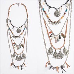 Bohemian Gypsy Festival Layered Necklace